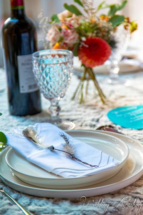 assiette mariage cadeau d'invités , wedding favor, vin, verre cristal, bohème, boho, sioux - love and do mariage