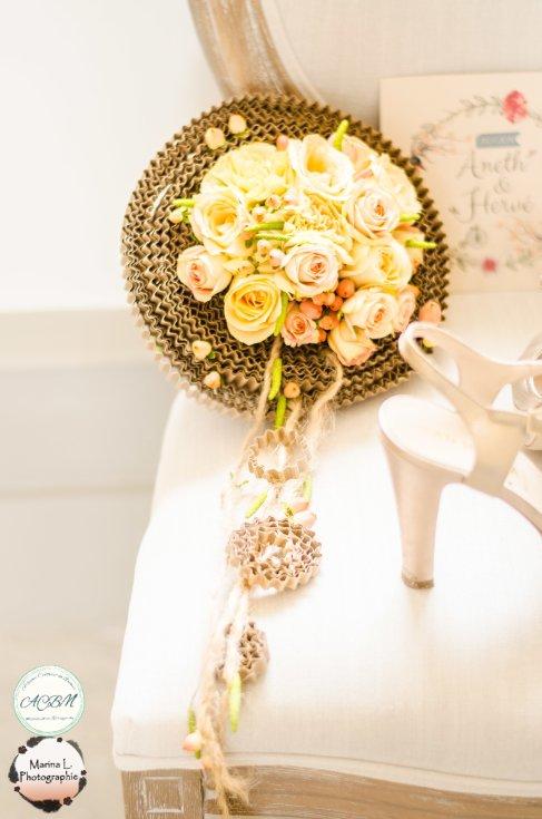 bouquet mariage original romantique, poétique douceur naturelle - love and do mariage