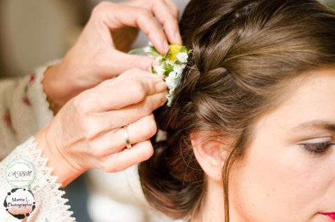 coiffure mariage champêtre bohème fleurs - love and do mariage