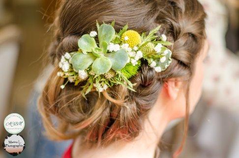 coiffure mariée fleurie verte zéro déchet - love and do mariage