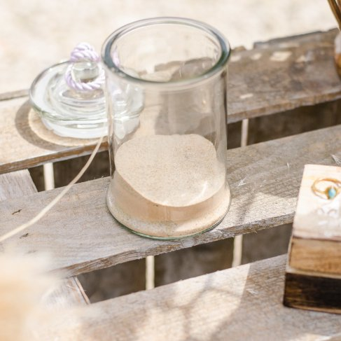 contenant rituel du sable, échange des alliances- love and do mariage