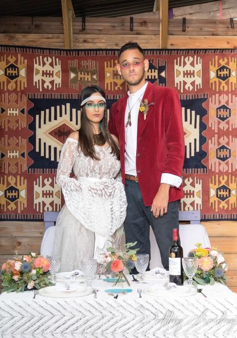 couple mariés; indiens plume, dentelle - love and do mariage