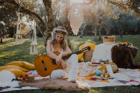 décor folk hippie -love and do mariage