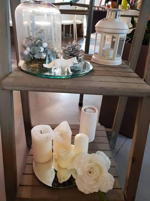 echelle decoree bougies lanterne hiver glacial , frozen