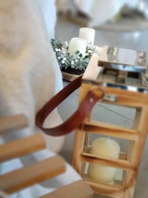 lanterne bois , detail, lumiere mariage
