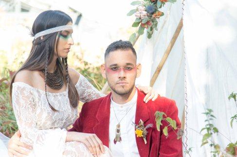 regard ; couple, amérindien, photo , souvenir, robe de mariée - love and do mariage
