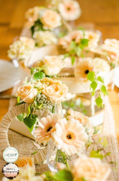 table d'honneur rectangulaire douce romantique pastel sweet tendre fleurie - love and do mariage