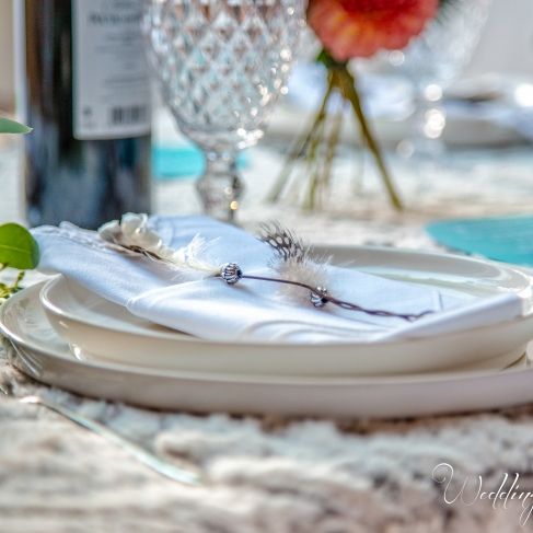table mariage, plume, indien, pocahantas - love and do mariage